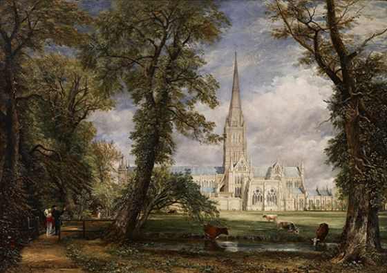 Constable, John: Salisbury Cathedral. Fine Art Print/Poster. Sizes: A4/A3/A2/A1 (0021)
